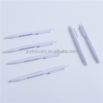 J466Promotional cheap white ball pen with custom big logo