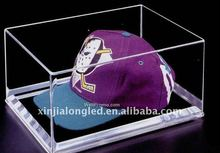 clear acrylic cap display case or acrylic hat display holder