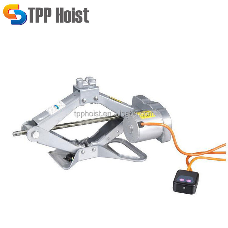 1500kg Load 12V Wire Line Control Electric Scissor Lift Car Jack