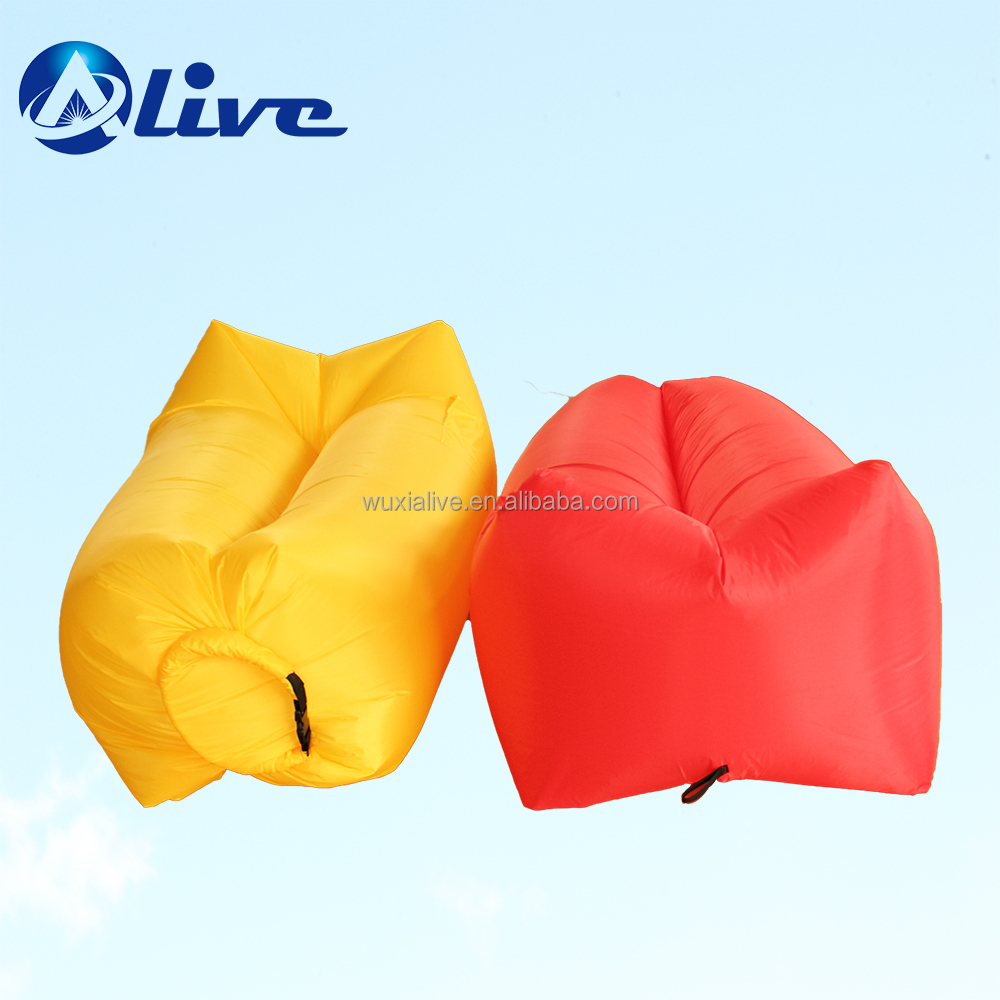 210T Nylon fabric inflatable lounger air sofa