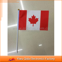 cheap stock canada USA fabric hand held flag pole
