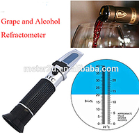 Focus and calibrate grape and alcohol refractometer RHW-25BrixATC
