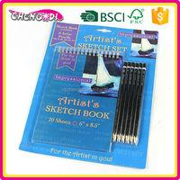 Enjoyable laser cut cardboard cover notebook, sketch book for artist, kindergarten writing paper