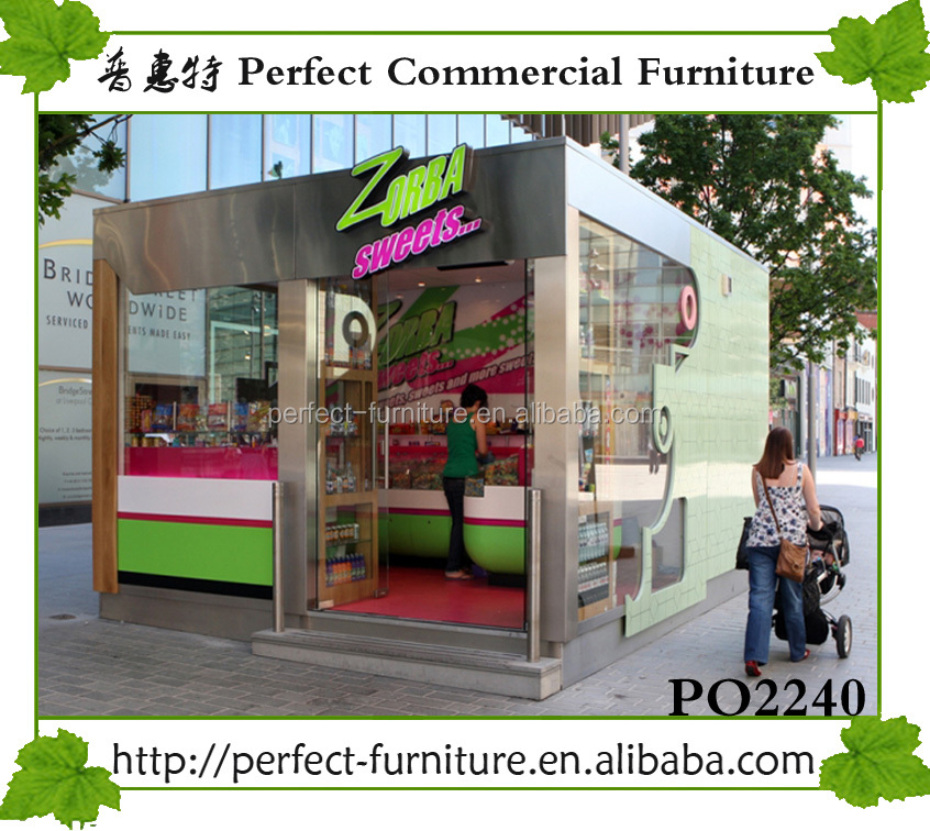factory custom made outdoor portable booth easy assembly food kiosk