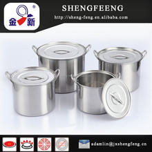 4 unids 22 cm 410 <span class=keywords><strong>acero</strong></span> <span class=keywords><strong>inoxidable</strong></span> stock pot set/olla/utensilio de cocina