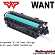 Compatible for HP CE278a/278/78a toner cartridge suit for LaserJet P1560/P1566/1600/1606