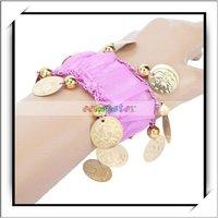 Wholesale! Purple Chiffon Crane Currency Bracelet For Belly Dance Wear -11002057