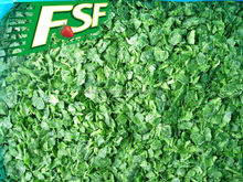 Iqf narural green frozen chopped spinach