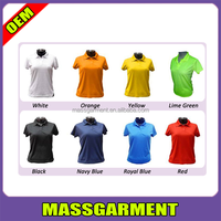 Cheap Women's Stand Collar Short Sleeve blank Polo shirt wholesale