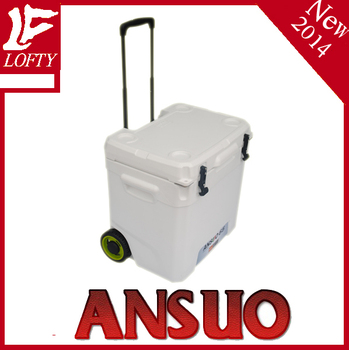 65L Easy carried, trolley, plastic cooler box