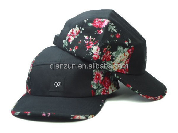 Alibaba Custome Flofal 5 Panel Hat,Fresh Prince Style 5 Panel Hat,Aztec Pattern 5 Panel Hat