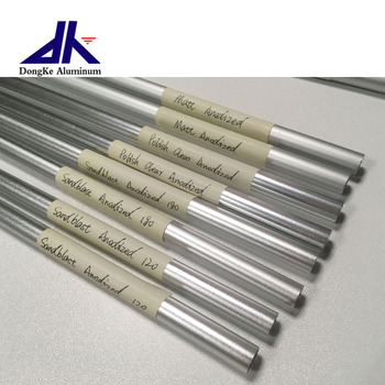 Custom round anodizing thin wall aluminum extrusion tube