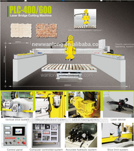 PLC-400/600 Laser marble cutting machine bridge saw tilt table with high performance