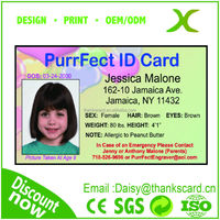Provide Design~~!!! High Quality Student card maker/ Office ID card manufacturer/ ID portrait cards