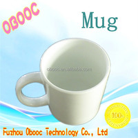 Blank white 11oz ceramic sublimation mug cup for heat transfer
