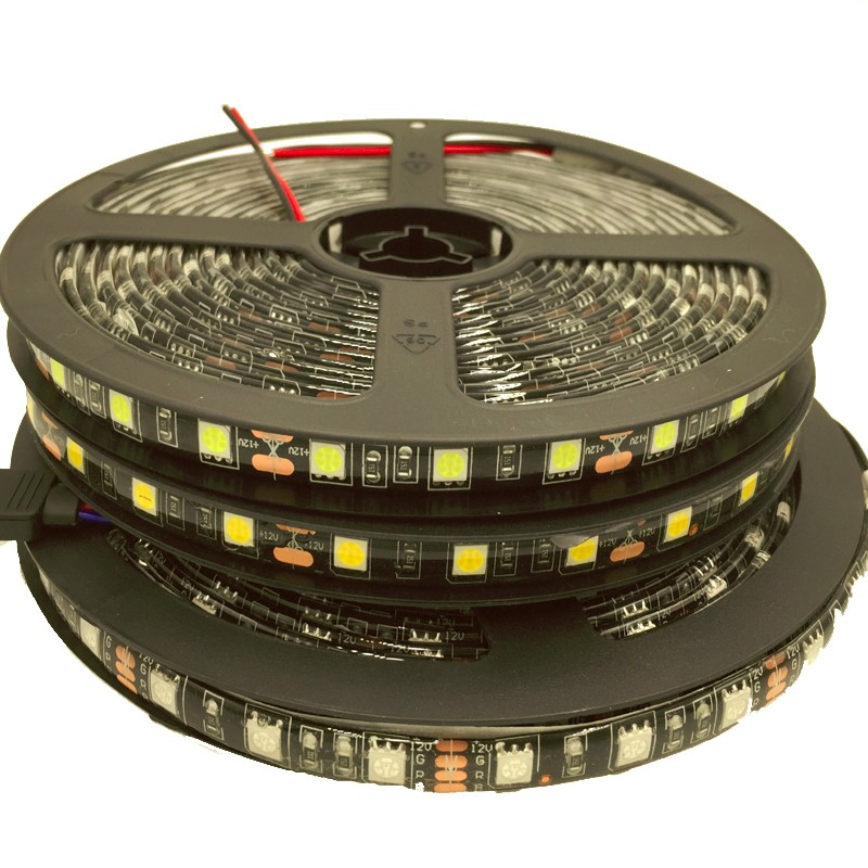 DC12V Black PCB 5050 <strong>RGB</strong> IP65 Waterproof 300led 5m Flexible LED Strip