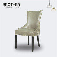 Manufacturer Wholesale Chinese PU Leather Dining Chair Modern