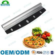 Quick cut rocker 18/8 stainless steel stainless steel pizza cutter, rocker slicer knife