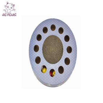 Pet toy product manufacturer corrugated reasonable price trustworthy brain training toy cat scratcher toy