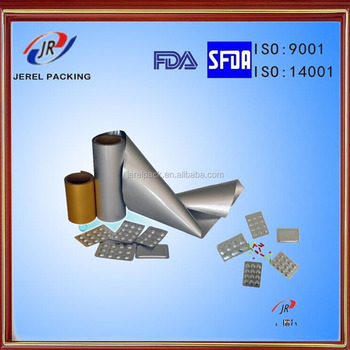 FDA,ISO approved Pharmaceutical alu alu bottom foil for medicine packing