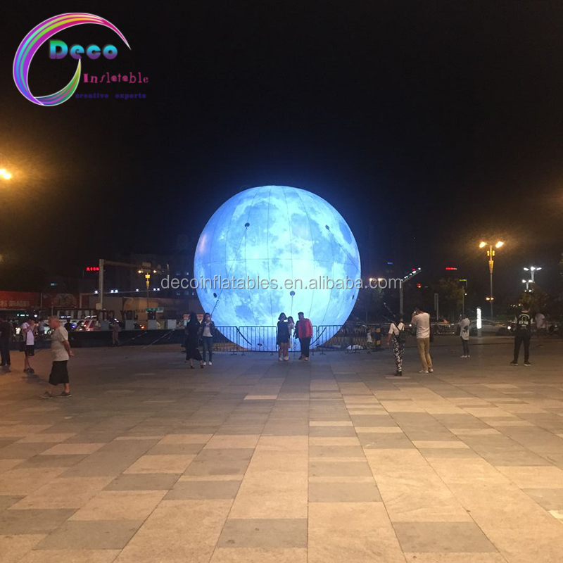 Giant <strong>inflatable</strong> led lighting moon for decoration,<strong>inflatable</strong> planets