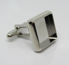 DIY mens jewelry high end market stainless steel cufflink blanks