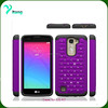 Hot sale hard armor case cover for Lg K7 bling diamond hybrid case