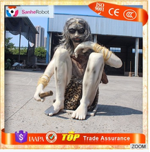High simulation Display Primitive Man lifesize Silicone figures