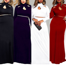 Wholesale Simple Long Dress Plus Size Evening Dress For Fat Women
