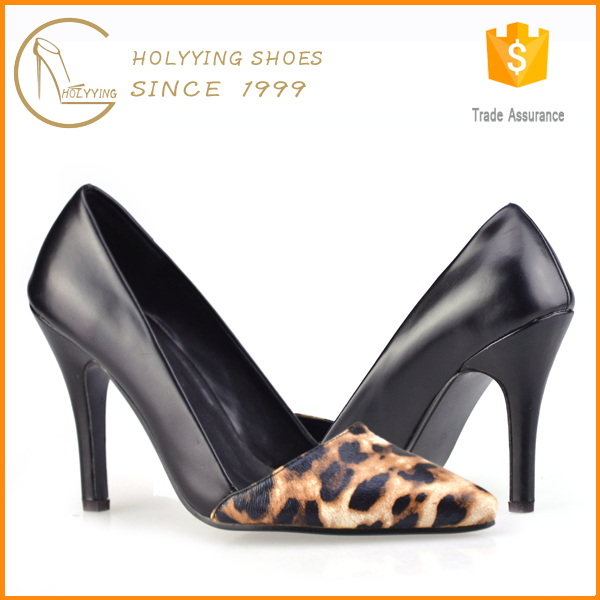 Strictly comfort women big size leopard print court shoes made in china