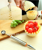 Fruit Vegetable Melon Baller Carving Knife Necessary Decorative Food Cutters
