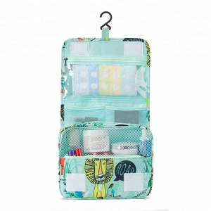 P.travel Hot Product Hanging Travel Toiletry Bags Polyester Cosmetic Bag Makeup