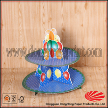 Cheap price corrugated paper cup cake stand/color printing cup cake stand