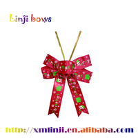 2015 Wholesale custom Ribbon bows, small christmas bows, satin ribbon pre-made bows