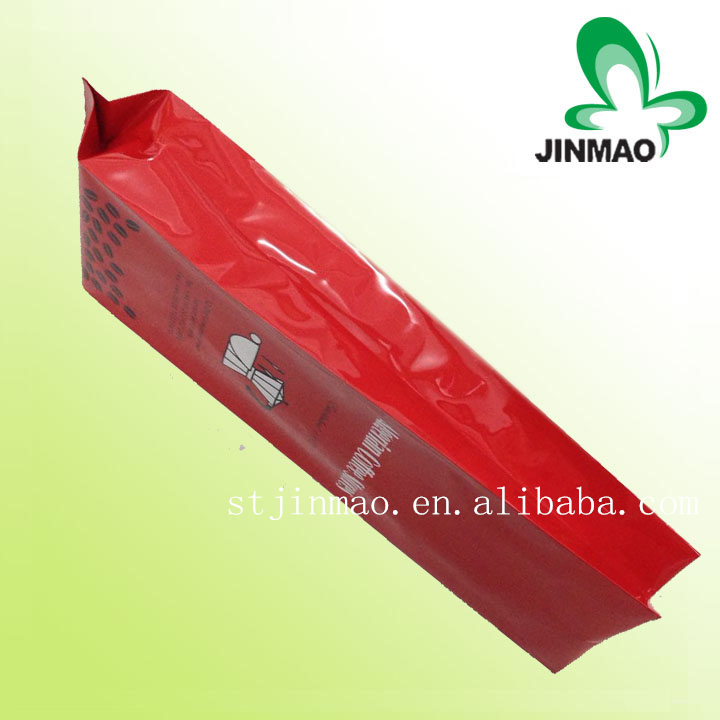 Gravure printing surface PE plastic and coffee use plastic valve for bag