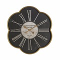 Factory wholesale custom antique flower shaped metal wall clock china