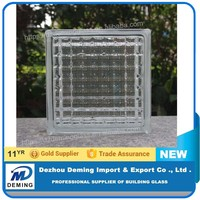 Colored Patterned Glass Block /Glass Brick with CE&ISO9001 Certificate