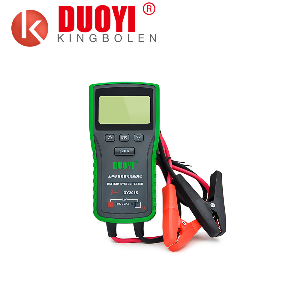 DUOYI DY2015 12V DC universal car battery load discharge capacity tester