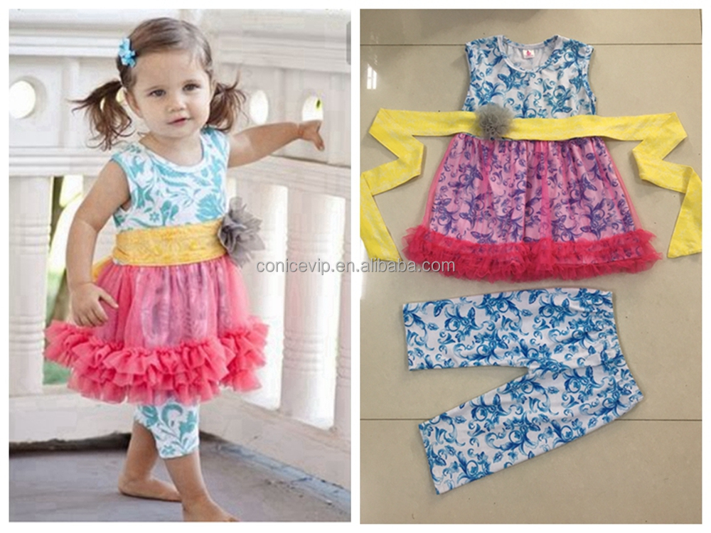 Designer Baby Girls Lace Boutique Clothing For Toddler Cheap Summer Kids Clothes