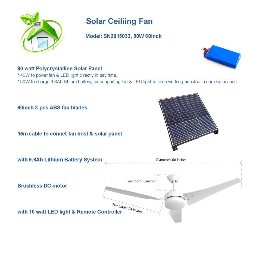 Solar Battery System >> Vent Kits 60 Inch Solar Fan Solar Battery System 24v Dc Motor