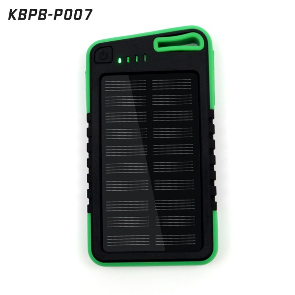Outdoor use waterproof and shockproof 5000mah portable solar power bank