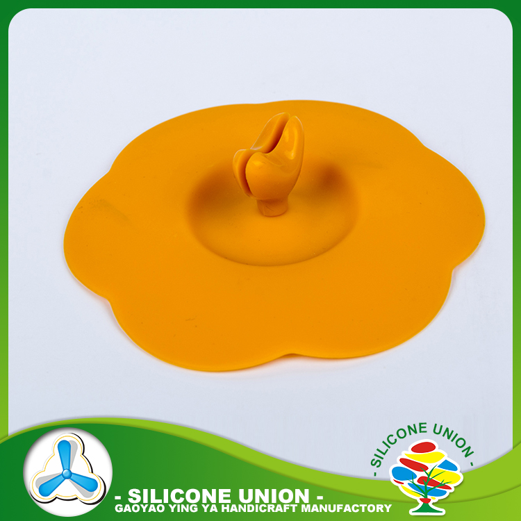 OEM food grade silicone cup cover/custom silicone cup lid