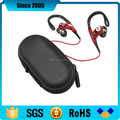 black PU leather eva headset headphone zipper case