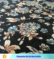 3D embossed flower printed double side flannel fabric exported to Pakistan