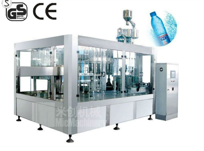 MIC12-12-5C high quality 3-in-1 mineral water plant machinery cost mineral water making machinery3000-4000bph with CE