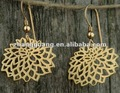 fashion gold plated alloy flower hoop earring