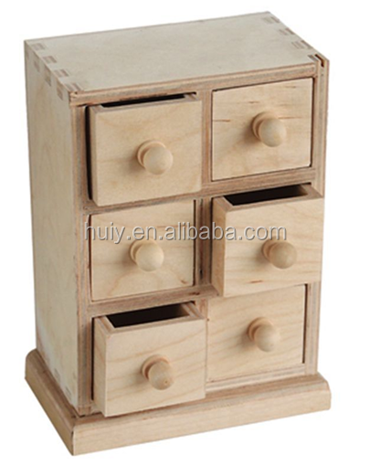 Unfinished Wood Chest Of Drawers ~ Multi use unfinished wood treasure chest of drawer for