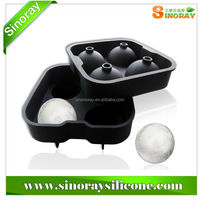 Classic Black silicone ice ball mold,ice sphere mold,ice ball maker