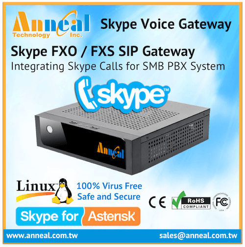 Affordable SMB Analog FXO FXS PABX Phone System IP PBX Skype