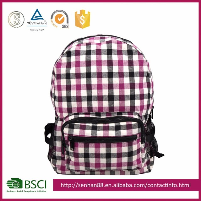 2017 New Professional Manufacturer Cosmetic Cotton Canvas Laptop Backpack School Backpack
